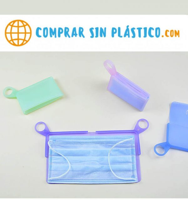 Guarda Mascarilla SILICONA Colores ecológica sostenible reciclable comprar sin plástico anti polvo comprarsinlastico pareja de mascarillas portátil fuerte