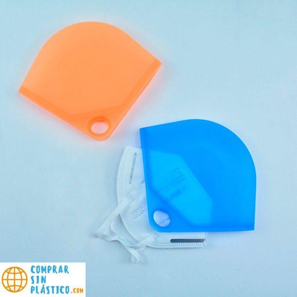 Guarda Mascarilla SILICONA Colores ecológica sostenible reciclable comprar sin plástico anti polvo comprarsinlastico pareja de mascarillas