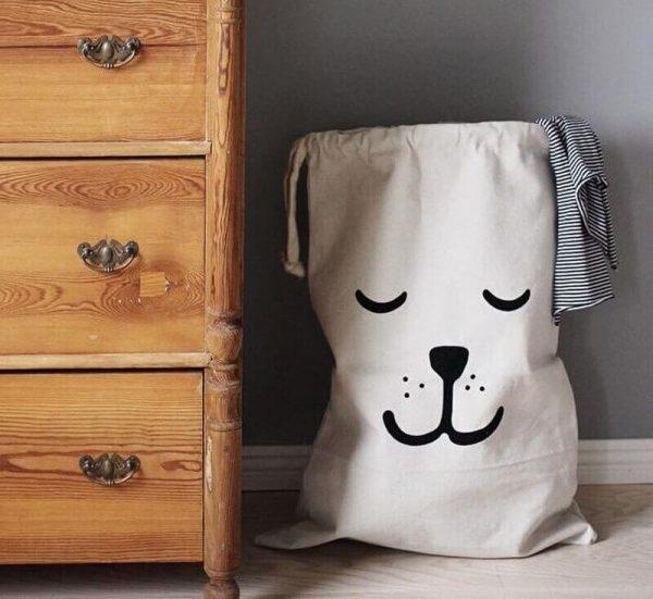 Bolsa 100% ALGODÓN, bolsa Tela de algodón, Bolsa cien por cien algodón ecológica, sostenible perro relax