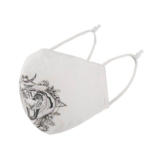 Mascarilla Deportiva Diseño Animales. Facemask. Tapabocas. Ecológico y sostenible. Protección para contaminación. modelo tigre