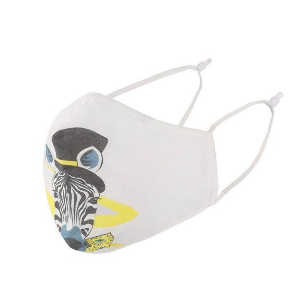Mascarilla Deportiva Diseño Animales. Facemask. Tapabocas. Ecológico y sostenible. Protección para contaminación. modelo zebra