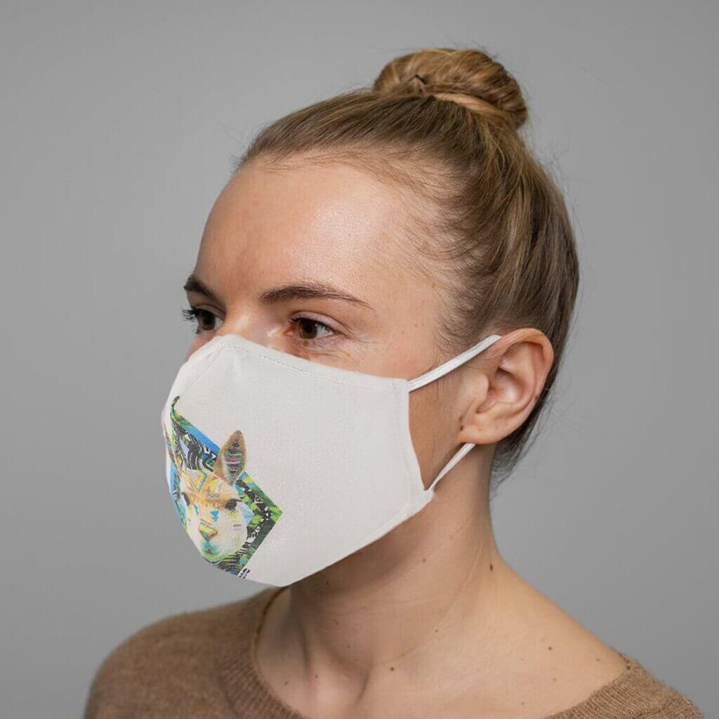 Mascarilla Deportiva Diseño Animales. Facemask. Tapabocas. Ecológico y sostenible. Protección para contaminación. conejo
