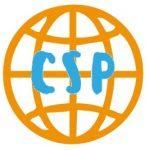 Logo letras de www.ComprarSinPlastico.com modesto proyecto con productos ecológicos sostenibles y materias primas naturales. BTC, LTC comprar sin plástico logocsp