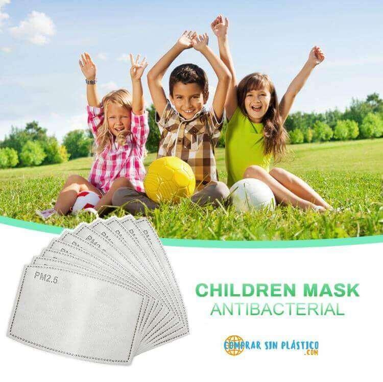 Filtros y Mascarillas Niños & Adultos. Ecológicos, sostenibles. Protege tu salud y la de tu familia y amigos, niños y diversión se lo pasan bomba