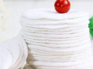 Almohadilla de ALGODÓN Limpiador facial Disco desmaquillante lavable, natural, ecológico, sostenible y reutilizable; 10 toallitas discos