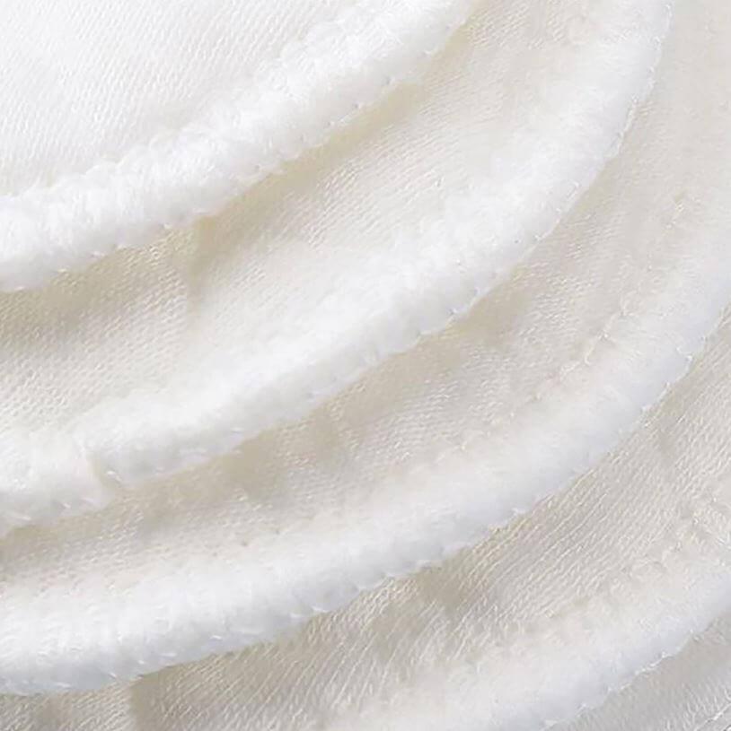 Almohadilla de ALGODÓN Limpiador facial desmaquillante lavable, natural, ecológico, sostenible y reutilizable; 10 unidades