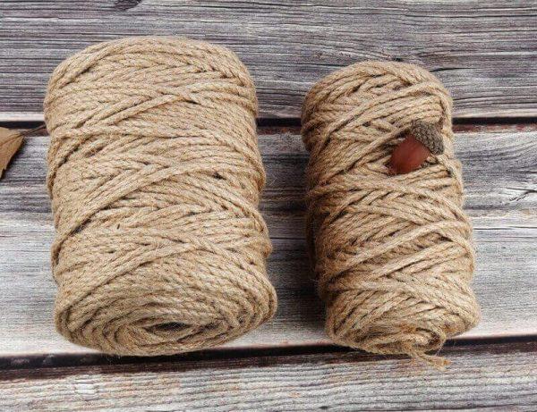 Cuerda Natural de Cáñamo Artesanal 1 rollo de cuerda-de-cañamo Natural-de 50 100m yute-decoracion-del hogar