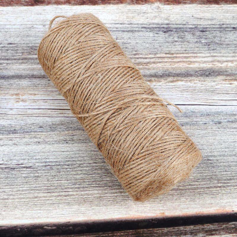 Cuerda Natural de Cáñamo Artesanal 1 rollo de-cuerda de-cañamo-Natural de 50 100m yute-decoración-del-hogar (14