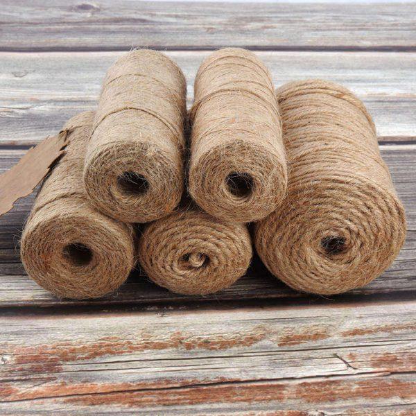 Cuerda Natural de Cáñamo Artesanal 1 rollo de cuerda de cañamo Natural de 50 100m yute decoración del hogar