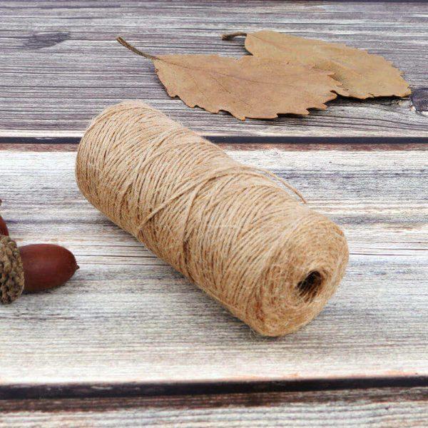 Cuerda Natural de Cáñamo Artesanal ecológico sostenible 1-rollo-d-cuerda-de-c-amo-Natural-de-50-100m-yute-decoraci-n-del-hogar
