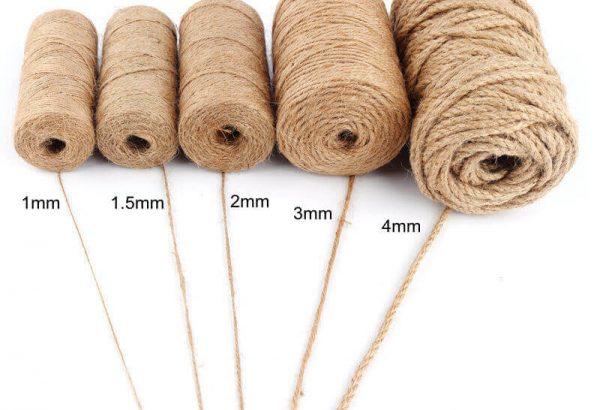 Cuerda Natural de Cáñamo Artesanal ecológico sostenible reciclable, compostable DIY bisutería y artesania