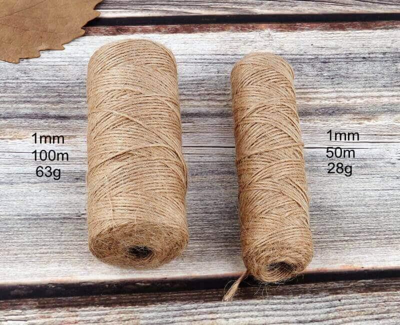 Cuerda Natural de Cáñamo Artesanal ecológico sostenible reciclable, compostable DIY bisutería y artesanía