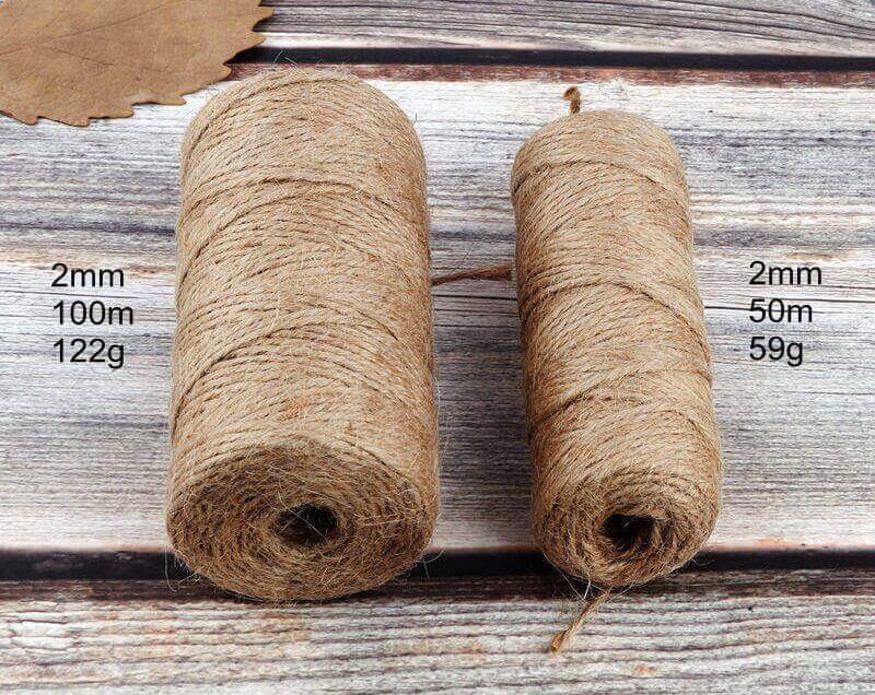 Cuerda Natural de Cáñamo Artesanal ecológico sostenible reciclable, compostable DIY bisutería y artesania (7)