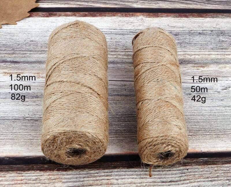Cuerda Natural de Cáñamo Artesanal ecológico sostenible reciclable, compostable DIY bisutería y artesanía (8