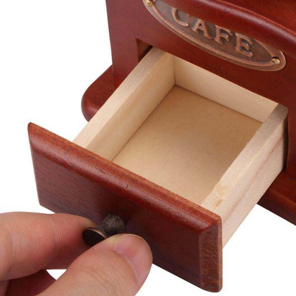 Molinillo de Café Manual Clásico, forma delicada para el café manual Metal y Madera. Comprar Sin Plástico. café Sostenible y ecológico. para 1 o 2 cafe
