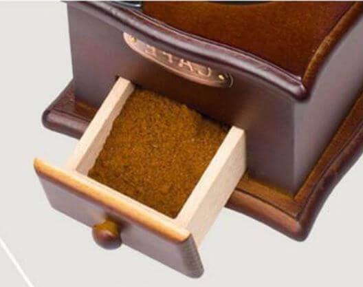 Molinillo de Café Manual Clásico, forma delicada para el café manual Metal y Madera. Comprar Sin Plástico. café Sostenible y ecológico. café café