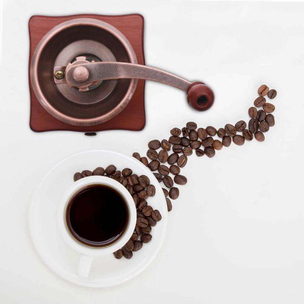 Molinillo de Café Manual Clásico, forma delicada para el café manual Metal y Madera. Comprar Sin Plástico. café Sostenible y ecológico. perfecto cafe