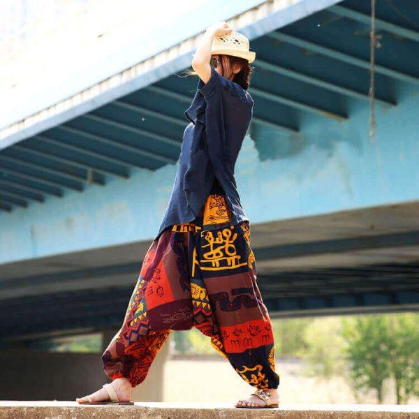 Pantalón ALGODON Unisex Bombacho Ancho, Sin Plástico. Prenda para vestir en verano. Ecológico, sostenible y natural. Comprar Sin Plástico (101)