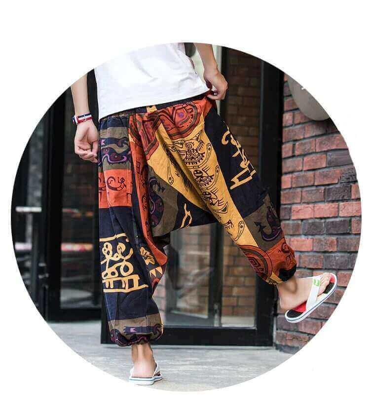 Pantalón ALGODON Unisex Bombacho Ancho, Sin Plástico. Prenda para vestir en verano. Ecológico, sostenible y natural. Comprar Sin Plástico (102)