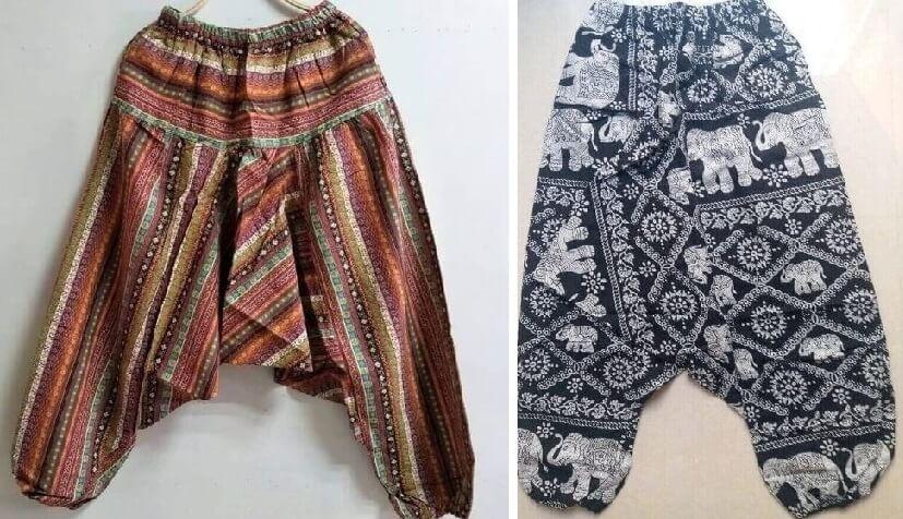 Pantalón ALGODON Unisex Bombacho Ancho, Sin Plástico. Prenda para vestir en verano. Ecológico, sostenible y natural. Comprar Sin Plástico (103)