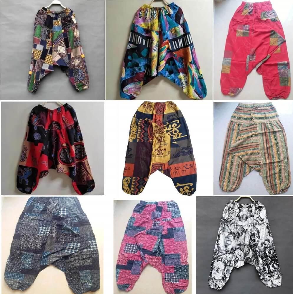 Pantalón ALGODON Unisex Bombacho Ancho, Sin Plástico. Prenda para vestir en verano. Ecológico, sostenible y natural. Comprar Sin Plástico (104)