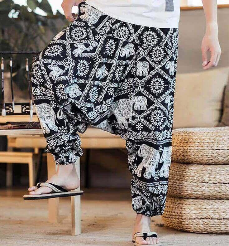 Pantalón ALGODON Unisex Bombacho Ancho, Sin Plástico. Prenda para vestir en verano. Ecológico, sostenible y natural. Comprar Sin Plástico (105)