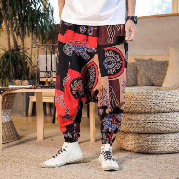 Pantalón ALGODON Unisex Bombacho Ancho, Sin Plástico. Prenda para vestir en verano. Ecológico, sostenible y natural. Comprar Sin Plástico (106)